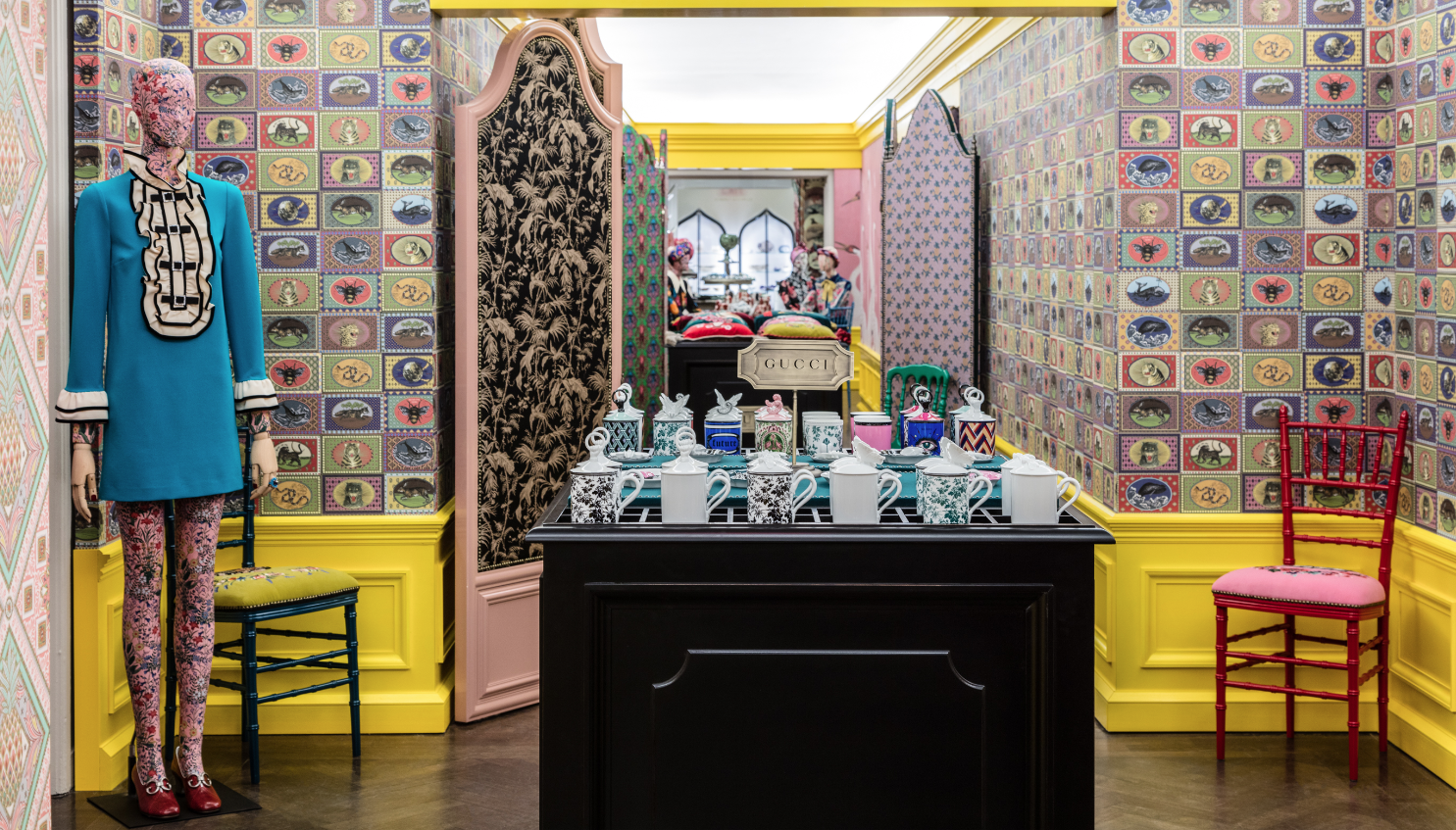 Gucci Decor Unveils At Bergdorf Goodman